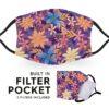 Purple Flowers - Adult Face Masks 2
