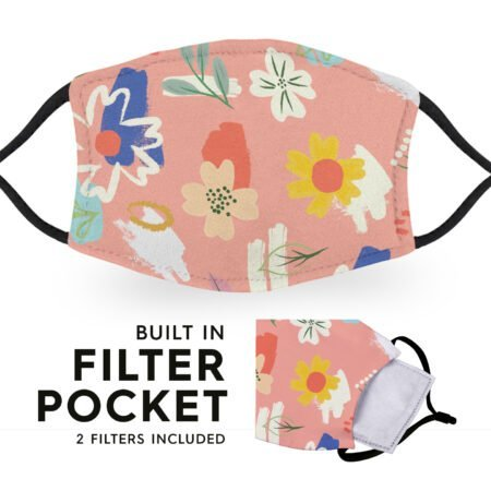 Painterly Flowers - Adult Face Masks 6