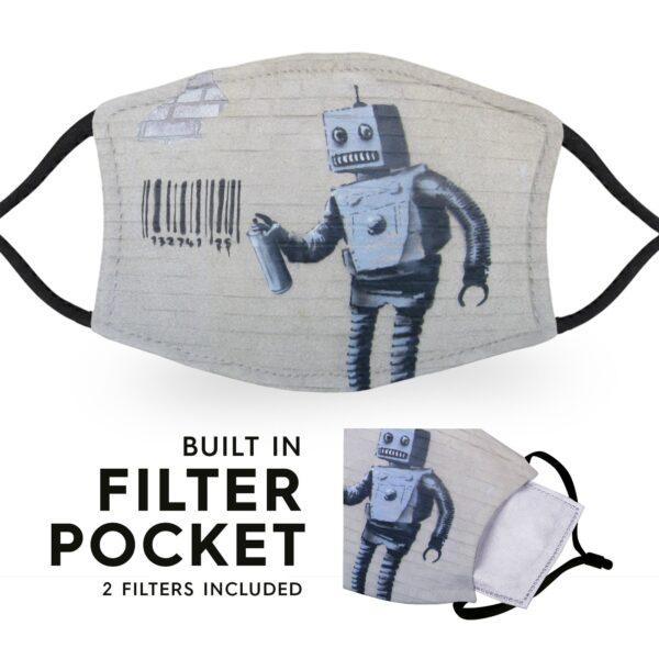 Banksy Robot - Adult Face Masks - 2 Filters Included 6