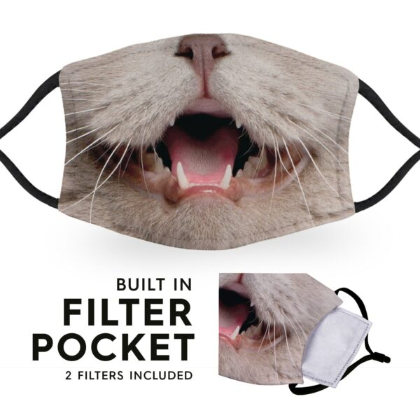 Cat Face - Childrens Face Masks - 2 Filters Included 6