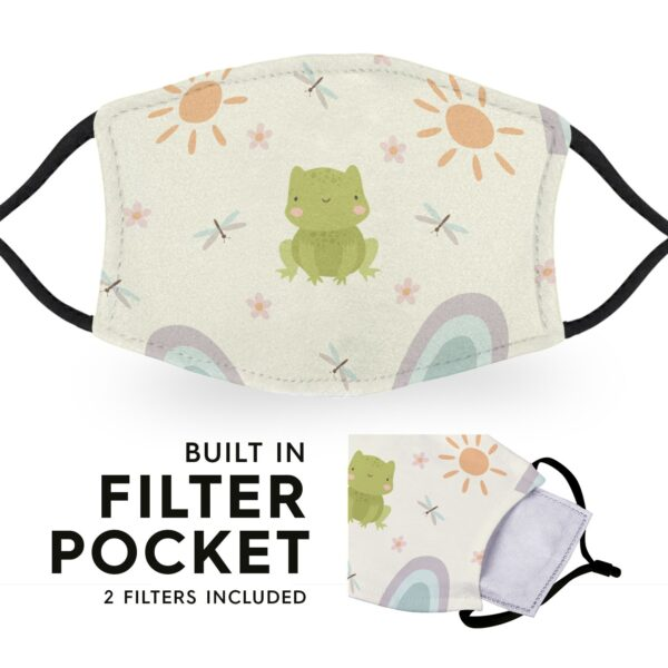 Cute Summer Frog - Adult Face Masks - 2 Filters Included 6
