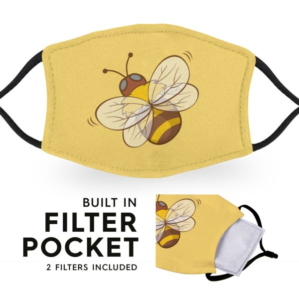 Cute Bee - Adult Face Masks - 2 Filters Included 3