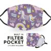Cute Unicorns - Adult Face Masks - 2 Filters Included 1
